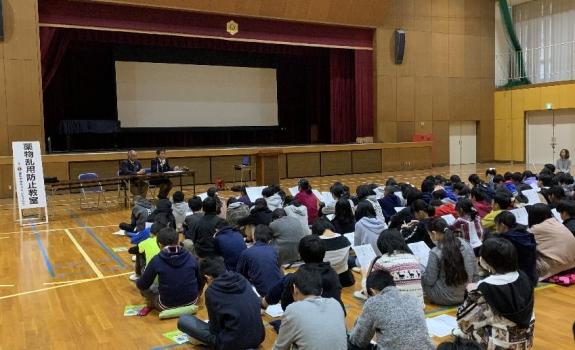 薬物乱用防止教室(日進市立香久山小学校)